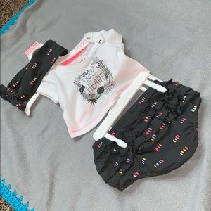 3 piece NB baby girl clothes